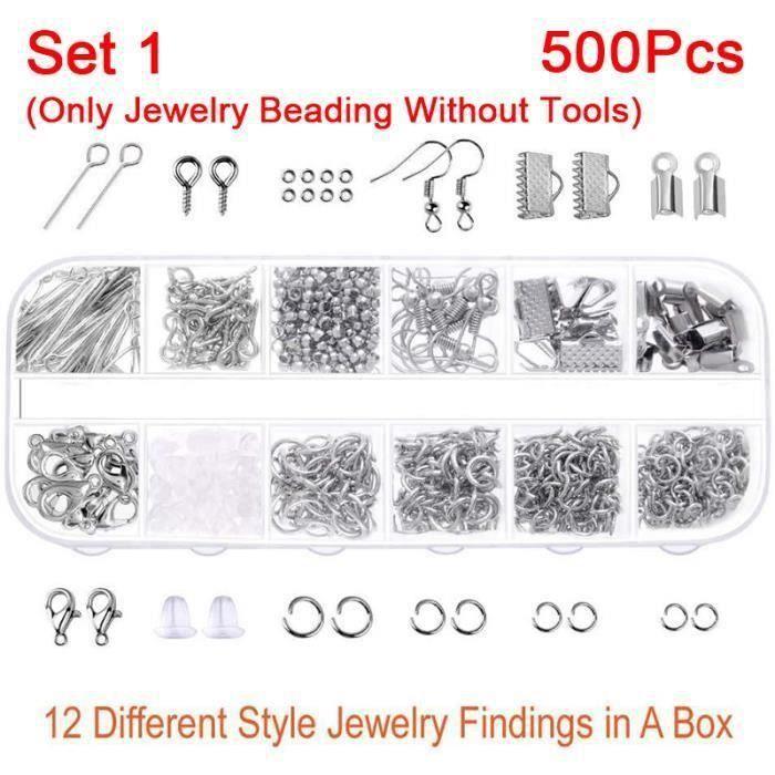 NEUFU Kit de 500PCS Accessoires bijoux Pour Creation de Bijoux