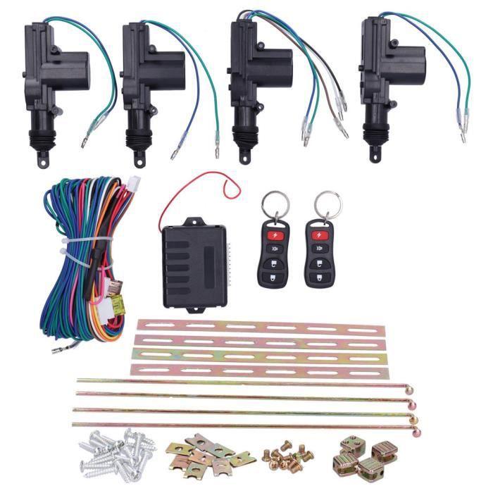 EBTOOLS Kit central à distance Kit Actionneur de Verrouillage Central à Télécommande Auto Système d'Entrée Sans Clé 12V avec