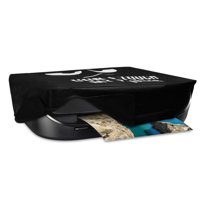 kwmobile Housse HP Envy Photo 5030 - Housse de Protection Couverture pour Imprimante HP Envy Photo 5030 - blanc-noir