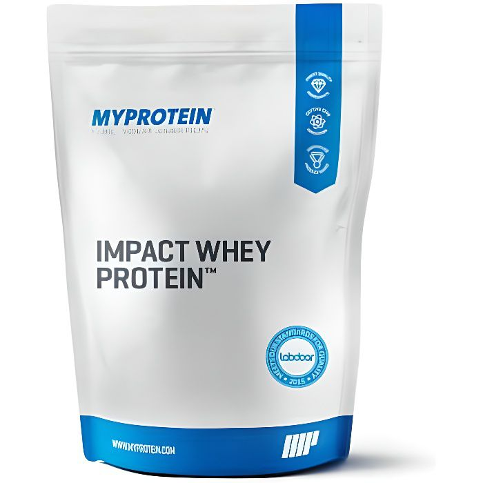 Impact Whey Protein, Natural Strawberry, 1kg - MyProtein