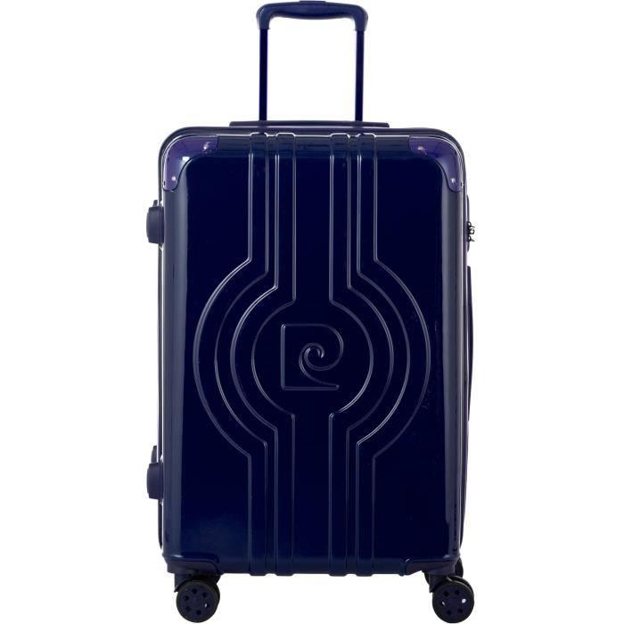 PIERRE CARDIN  Valise long week-end 65cm avec 8 roues - Couleur Bleu Marine