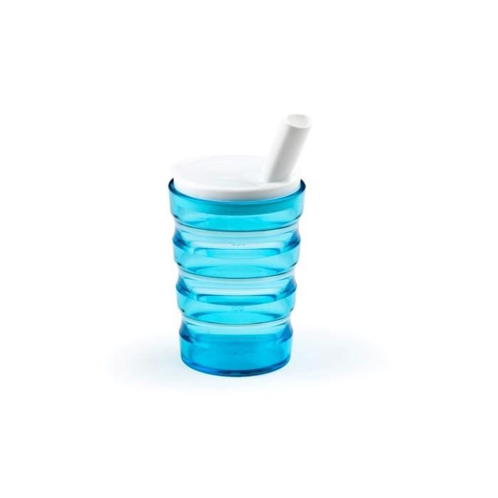 VITILITY - Gobelet Sure - Tasse ergonomique ISO Wave - Grip Blue+Couvercle Small