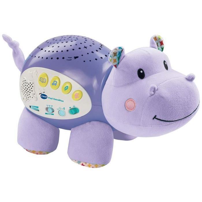 VTech Baby 3480-180922 - COMMUTATEUR KVM - 80 ? 180922 ? Popi Estrellitas, projecteur musical, couleur violet