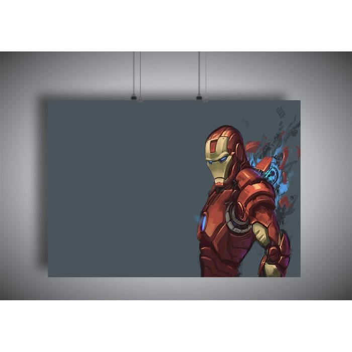 Poster Iron Man Dessin Marvel Super Hero Wall Art A4 21x29 7cm Achat Vente Affiche Poster Poster Iron Man Dessin Marvel Cdiscount