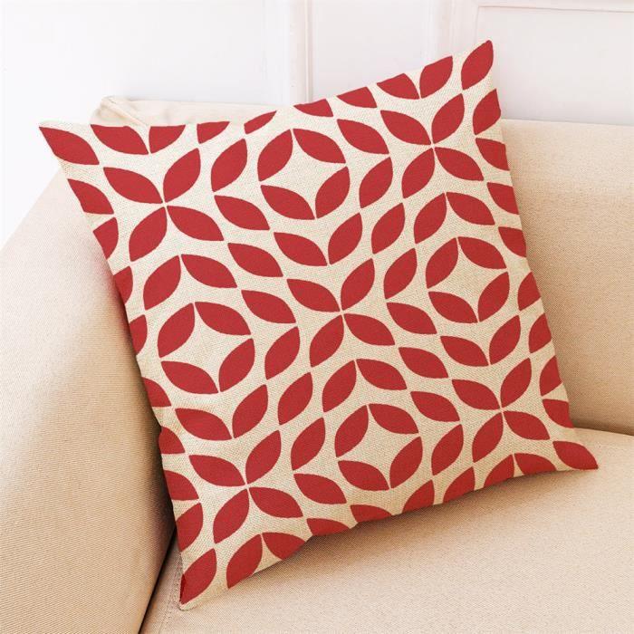 """Rouge Uni Housse De Coussin Imitation Soie Maison canapé décor taille 16/""""x16/""""//40x40cm"""