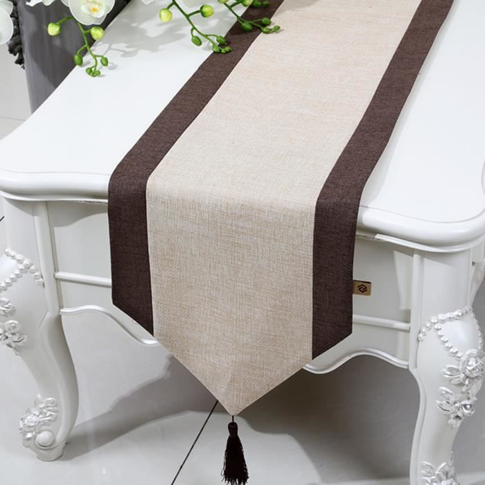 Chemin De Table Linge De Table Nappe Soie Qualité Art Table Moderne  Décorations Maison Décorations De Mariage 33*200cm