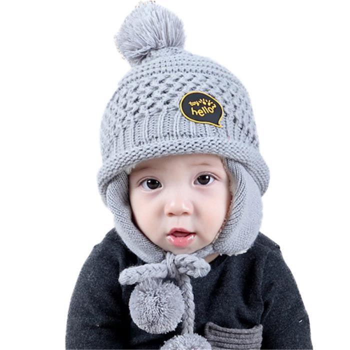 Admirable MiVogue Bonnet Pour Bébé Hiver Cache Oreille Petit Enfant Garçon SC-34