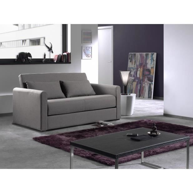 canap convertible savanna gris clair achat vente canap sofa divan les soldes sur. Black Bedroom Furniture Sets. Home Design Ideas