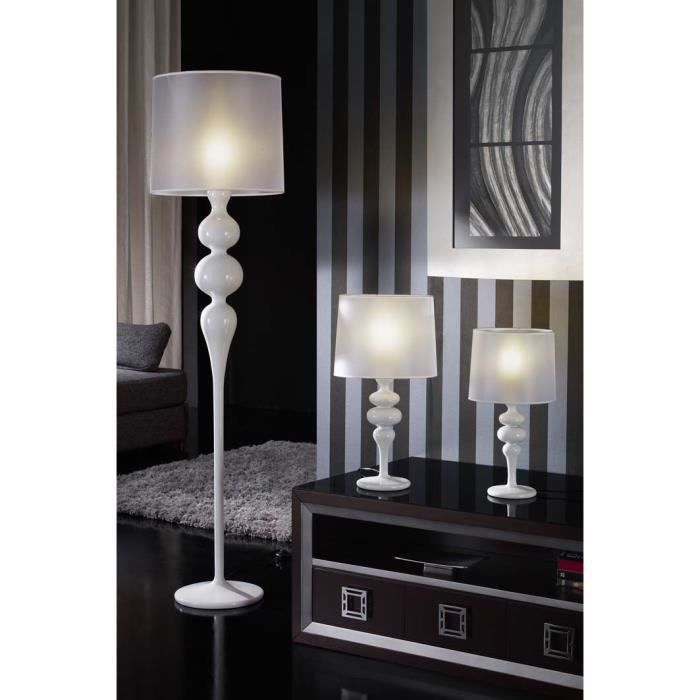 lampadaire de salon blanc table de lit a roulettes. Black Bedroom Furniture Sets. Home Design Ideas