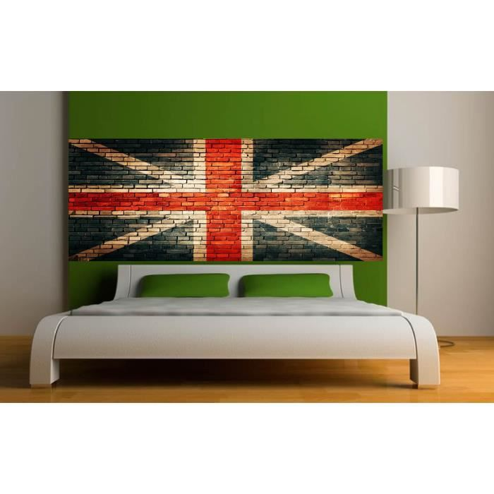 Stickers T Te De Lit D Co Chambre Union Jack Dimensions 180x70cm Achat Vente Stickers