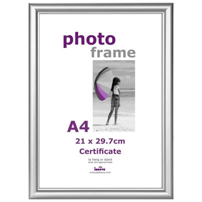CADRE PHOTO CERTIFICAT Cadre photo 21x29,7 cm Argent
