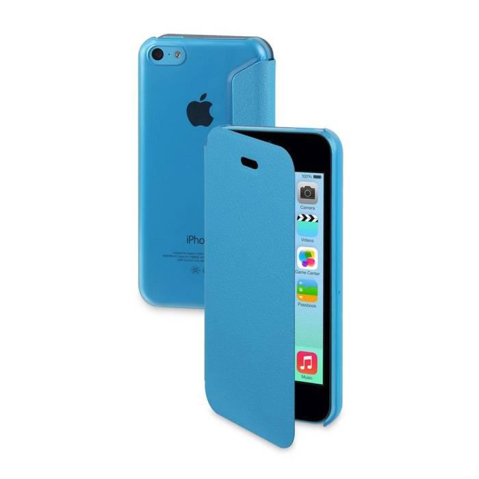 Tui ultra fin folio cover bleu moxie iphone 5c achat for Housse iphone 5c