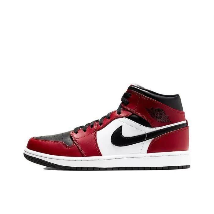 Air Jordan 1 Mid Chicago Black Toe Chaussure de Basket Air Jordan ...