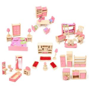 maison de poupee barbie en bois achat vente jeux et. Black Bedroom Furniture Sets. Home Design Ideas