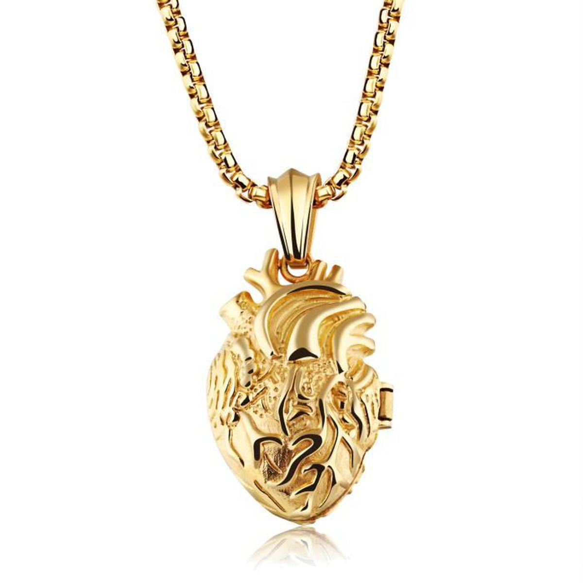 collier pendentif or homme
