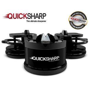 QuickSharp EasyPRO Aiguiseur de Couteaux Noir Aff/ûteur avec Ventouse S/écurit/é