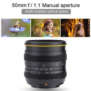 OBJECTIF CESAR Kamlan Objectif 50mm f1.1 Lentille à mise au