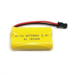 Vaorwne 2Pcs 7.4V 1100Mah 25C 2S Lipo Batterie Jst Plug Rechargeable pour Wltoys A949 A959 A969 A979 Rc Drone Avion de Voiture