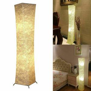 LAMPADAIRE Lampadaire LED Tissu en Tyvek Blanc Chaud avec Tél