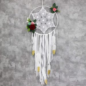 DUOBANGS Attrape Reve Geant Murale Grand Dreamcatcher Capteurs de R/êves Tenture D/écoration D/écorations murales pour Les Chambres D/écorations murales White