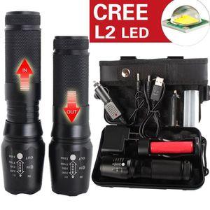 LAMPE DE POCHE L2 LED Torche militaire X800 Lampe torche LED L2 t