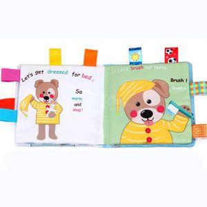 PUZZLE Puzzle Chien animaux Tissu Livre Bébé Jouet Tissu