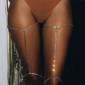 CHAINE DE TAILLE - CHAINE D'EPAULE 1pc femmes strass corps bijoux jambe cuisse chaîne