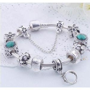 BRACELET - GOURMETTE 18CM Charms Bracelet Pandora Style bijoux Femme CZ