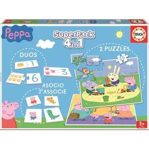MALLETTE MULTI-JEUX PEPPA PIG Superpack Jeux éducatifs