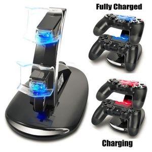 CHARGEUR CONSOLE PS4 Station de chargement Chargeur double USB Dock