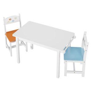 TABLE ET CHAISE Homfa 3 en 1 Table et 2 Chaises d'enfant Ensemble
