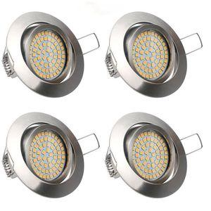 SPOTS - LIGNE DE SPOTS Lot de 4 Spots LED Projecteur Encastré Lampe Plafo