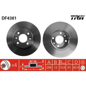 Disque de frein 1 Unités TRW df2651