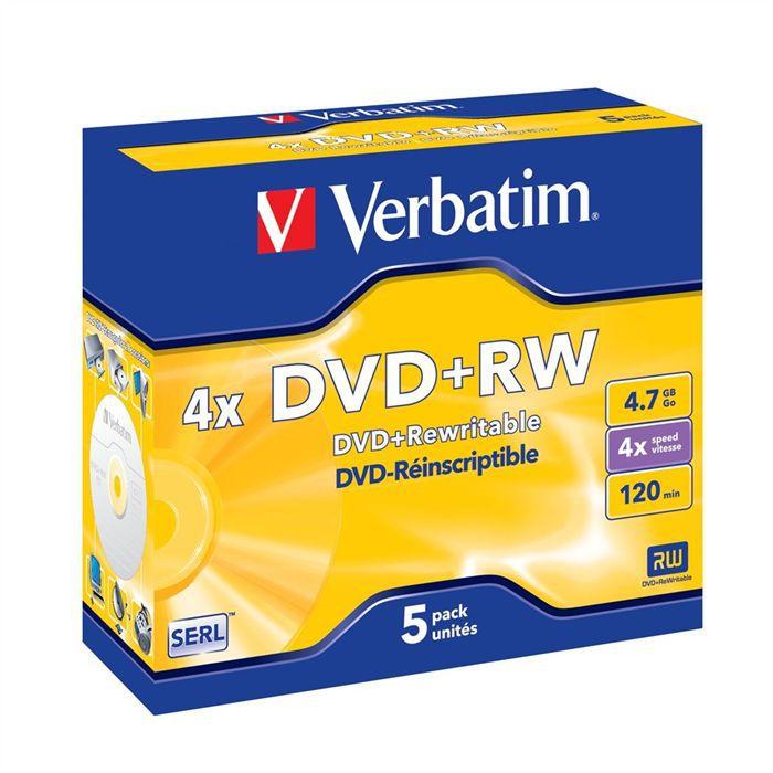 Verbatim DVD+RW 4.7 Go 4x (5)