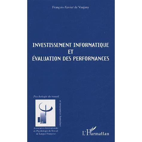 LIVRE GESTION Investissement informatique et évaluation des perf