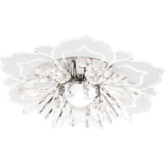 Éclairage lustre cristal allée lumière cristal moderne LED plafonnier décoration-couleur lumière-9W