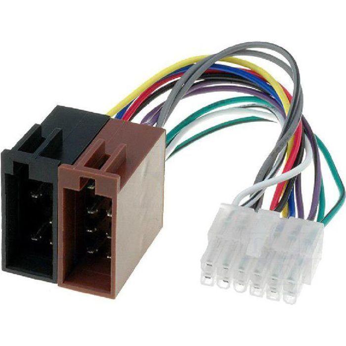 Cable Autoradio Pioneer 12PIN Vers Iso- connecteur blanc 1