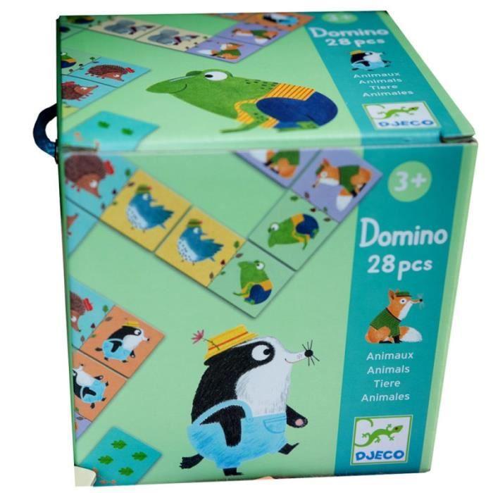 Grands Dominos bébé 2 ans jeu pour petits enfants Animaux Djeco