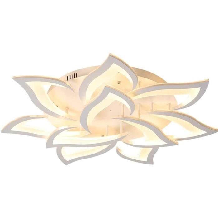 Plafonnier LED Dimmable Couleur Des Pétales Moderne Encastré Acrylique Lampe Fleur Creative Shape Design Lustre Télécommande L[321]