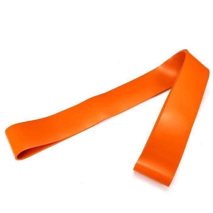 AVANC Bande de Résistance Elastique Musculation - en Latex naturel orange 2080X4.5X83mm 90-220lbs