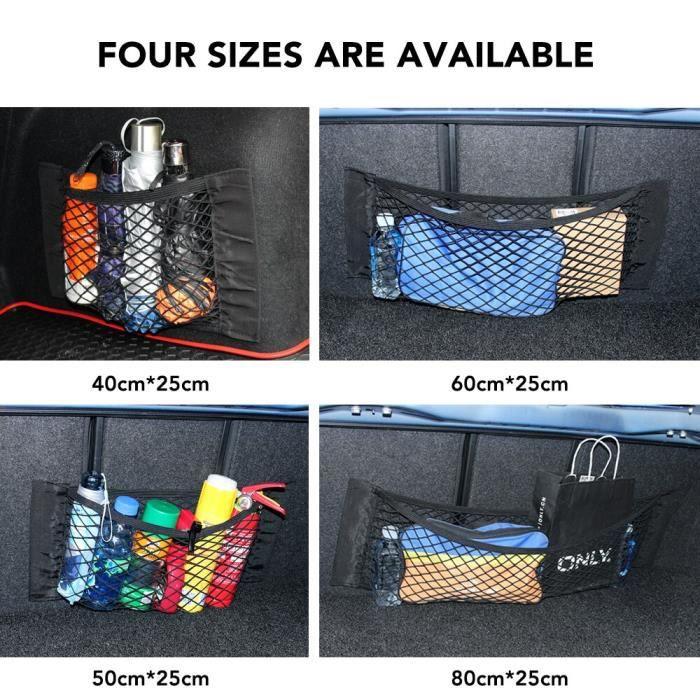 Accessoires auto intérieurs,Sac de rangement pour coffre de voiture, sac de rangement, filet pour Volkswagen VW - Type 40 x 25