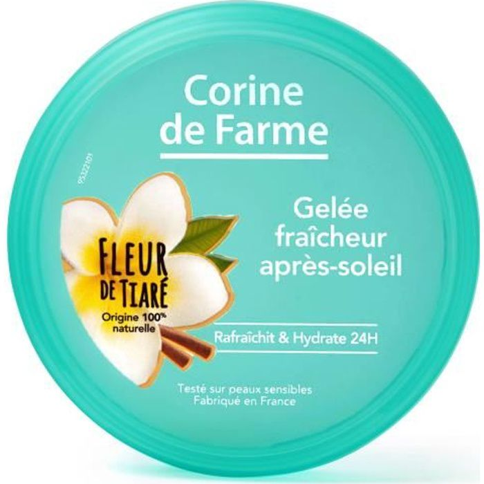 Corine de Farme - Gelée Fraicheur - Après Soleil - Fleur de Tiaré - Sensation de fraîcheur et d'apaisement immédiate- 150ml