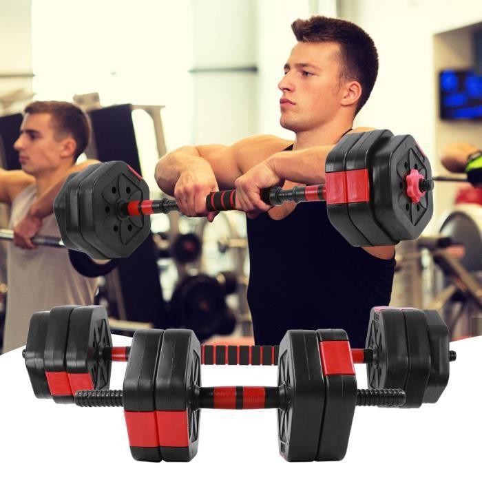 Ensemble de 25 kg d'équipement de fitness domestique Hex Eco-Friendly avec tige de connexion de 25 cm -ALA
