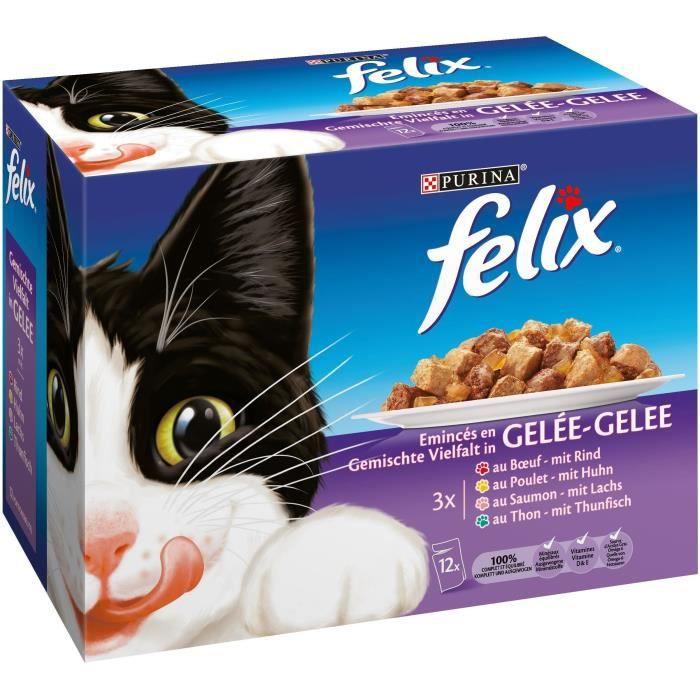 Emincés en gelée pour chat 12x100g FELIX