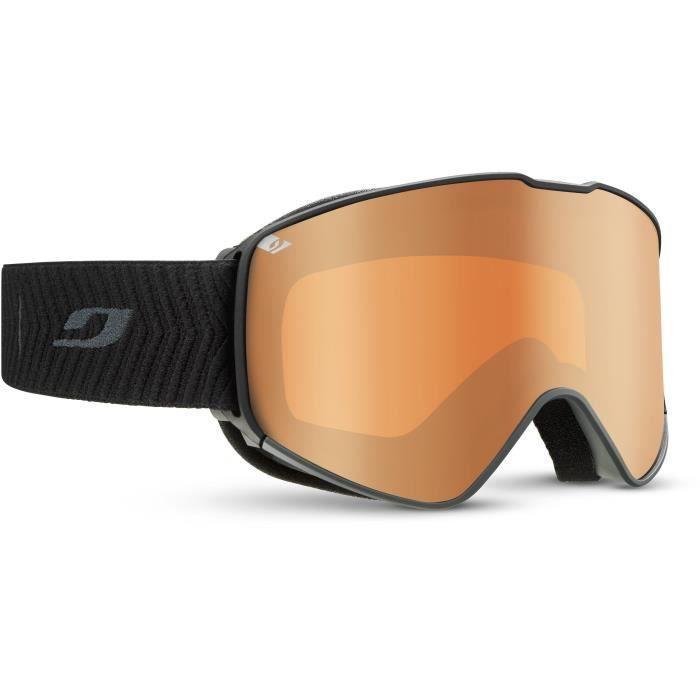 JULBO Masque de Ski Alpha - Noir et Gris Cat3