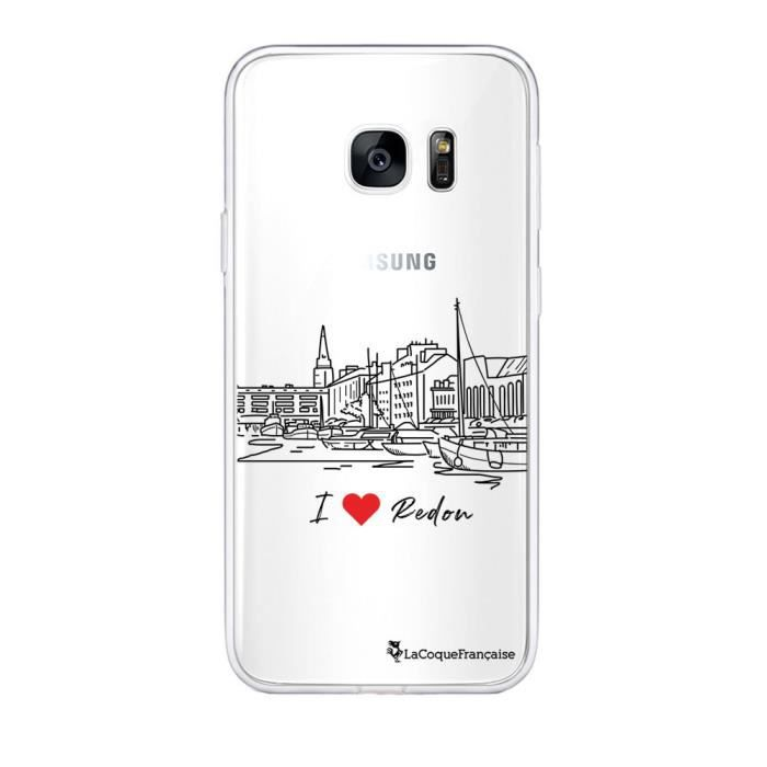 La Coque Francaise Coque compatible avec Samsung Galaxy S7 souple silicone solide ultra resistant fine protection housse etui