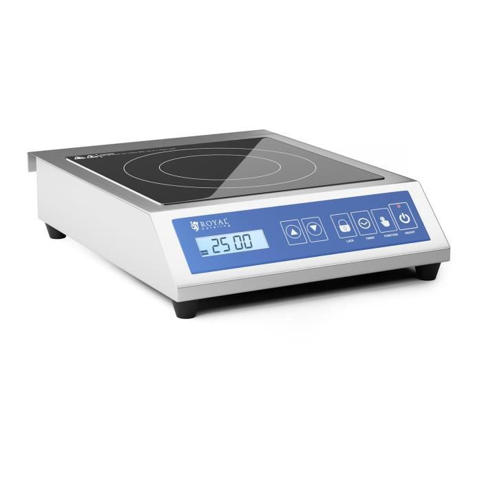 Plaque à induction Table De cuisson Induction Professionnelle RCIK-3500GP (3 500 W, 13 Niveaux De Puissance. 60 à 240 °C)