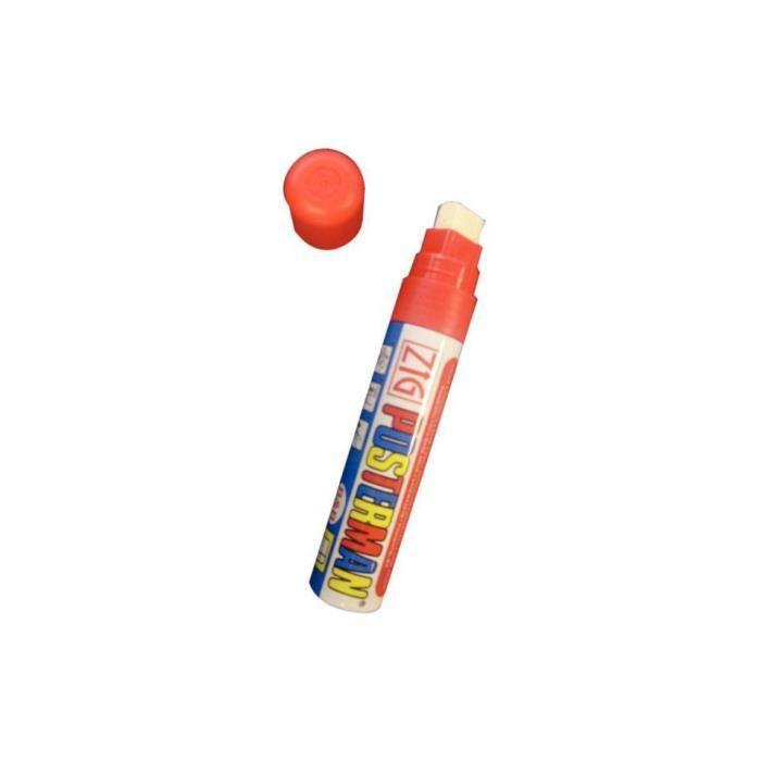 Marqueur waterproof pour ardoise 6 mm Posterman SECURIT - Rouge