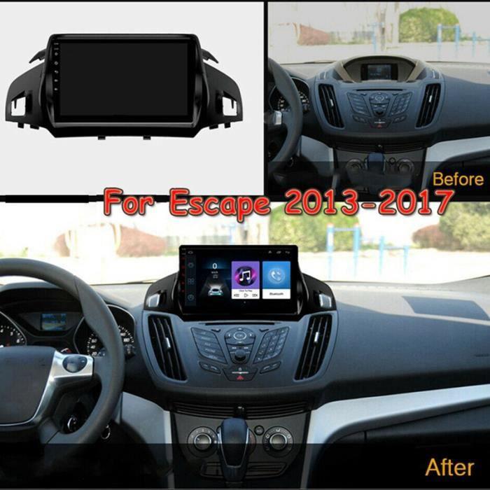 9 Pouces Android 10 Voiture StéRéO Radio Bluetooth MP5 Lecteur éCran de Navigation GPS 1 + 16 Go pour Ford Escape 2013-2017