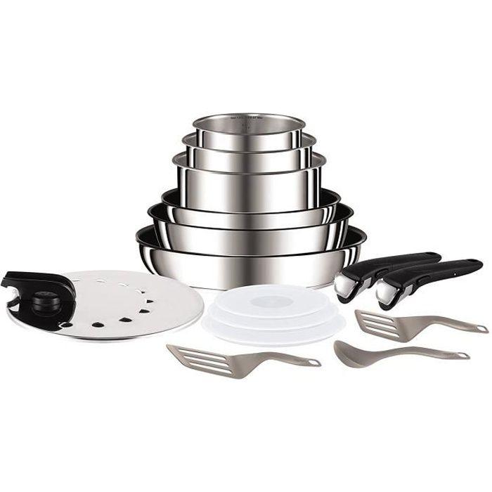Tefal L9409602 Ingenio - Set de poêles et casseroles (15 pièces) - Induction - Inox